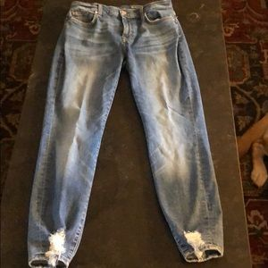 7 for all mankind. Ankle skinny. Size 29.